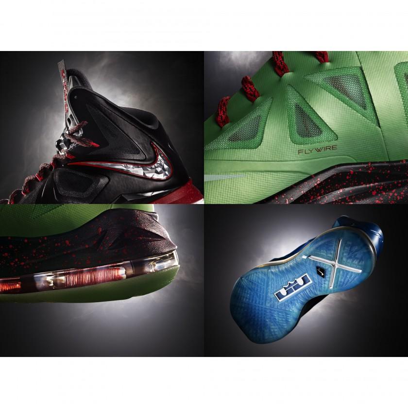 LEBRON X+ Basketballschuh details 2012