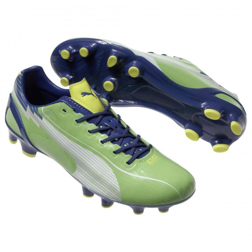 evoSPEED 1 FG Fußballschuh green/blue 2012