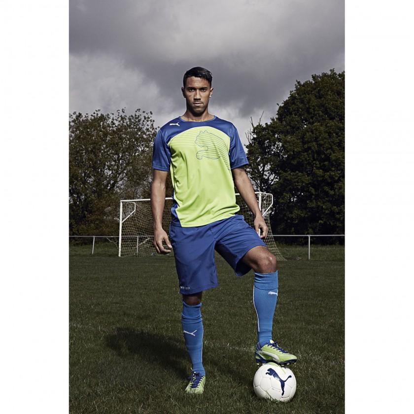 Gal Clichy im evoSPEED 1 FG Fußballschuh green/blue 2012