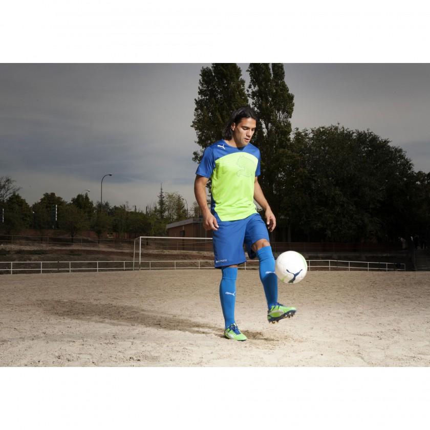 Radamel Falcao im evoSPEED 1 FG Fußballschuh green/blue 2012