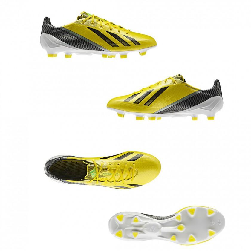 Bild: F50 adiZero FG Fußballschuh gelbschwarzgrün