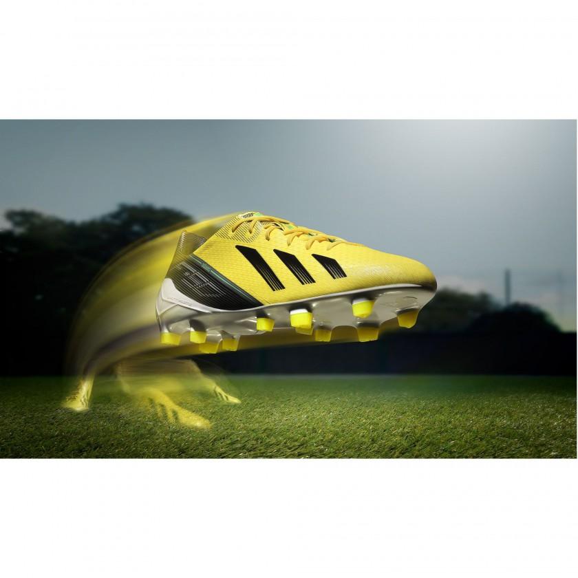F50 adiZero FG Fußballschuh gelb/schwarz/grün 2012