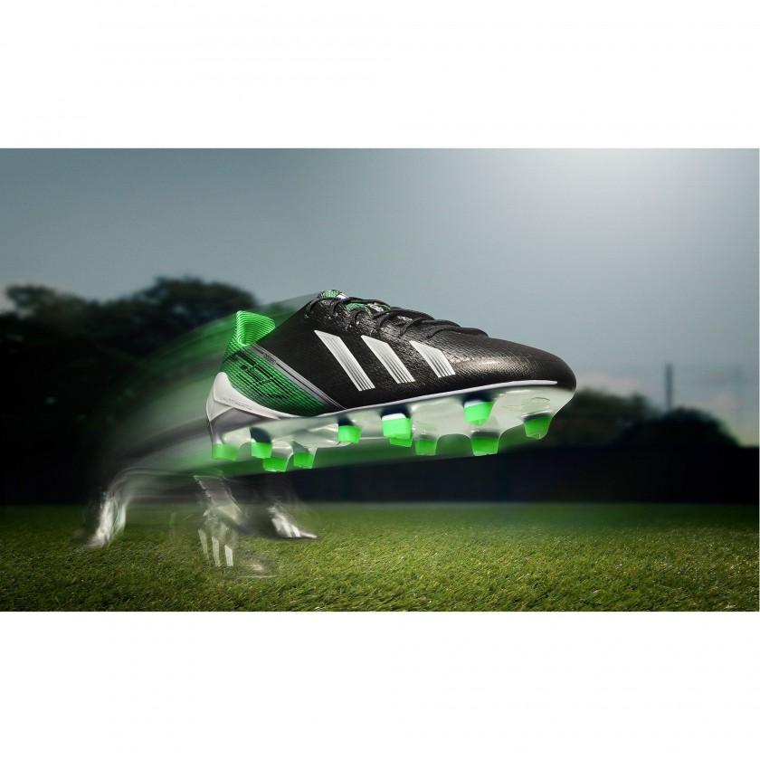 Bild: F50 adiZero FG Fußballschuh schwarzweißgrün 2012
