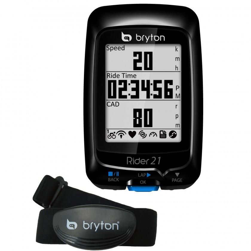 bryton Rider 21T GPS Fahrradcomputer mit Herzfrequenz-Brustgurt 2012