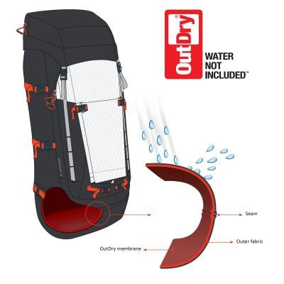 Wasserdichter Outdor-Rucksack mit der Membrantechnologie von OutDry - Tech Sheet 2013