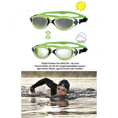Predator Flex REACTOR Schwimmbrille mit photochromatischen Linsen 2013