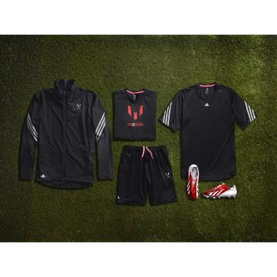 adidas play the Messi way-Kollektion: Trainingsbekleidung und Signature Fuballschuh adizero f50 Messi 2013