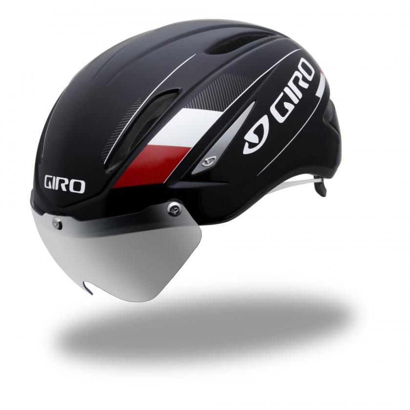 AIR ATTACK Shield Fahrradhelm mit per Magnet fixierbarem optischen Schild 2013 von GIRO