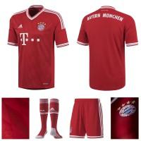 Heimoutfit FC Bayern Mnchen - Trikot front, back, detail, Logo, Socken, Hose 2013/14 von adidas