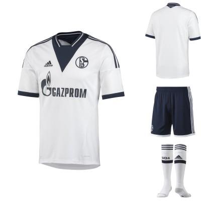 FC Schalke 04 Auswrts-Outfit - Trikot front, back, Socken, Hose 2013/14 von adidas