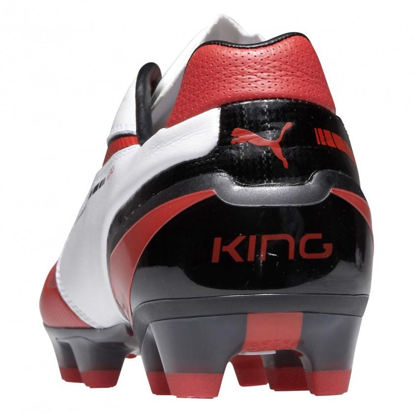 KING FG Fussballschuh weiss/rot/schwarz - Fersenkappe 2013 von PUMA