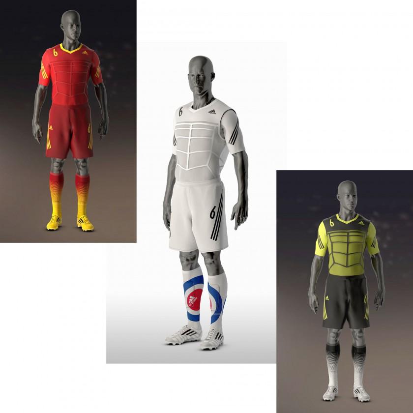 bild 630g kit von adidas umfasst shirt shorts socken schienbeinschoner und fussballschuhe. Black Bedroom Furniture Sets. Home Design Ideas