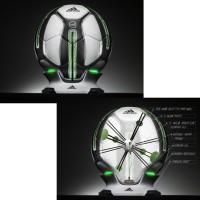 adidas Smart Ball auf Ladestation Aussen- und Innenansicht mit integrierten Sensoren 2013