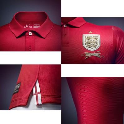 Auswrtstrikot England rot Details 2013 von Nike