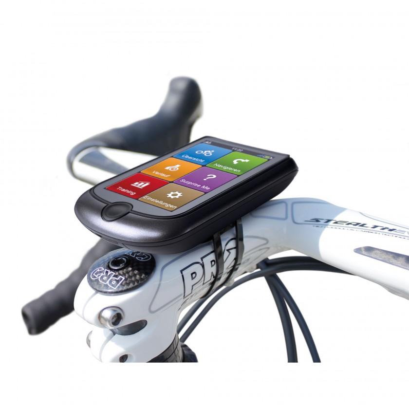 Cyclo 500 GPS-Fahrrad-Navigationsgerät am Lenker befestigt 2013 von Mio