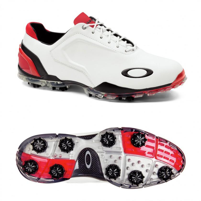 Carbon Pro Golfschuh white/red side/sole 2013 von Oakley
