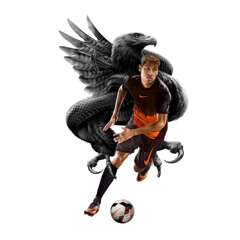 Neymar jr. im Hypervenom Fussballschuh - Adler/Schlange 2013 von Nike