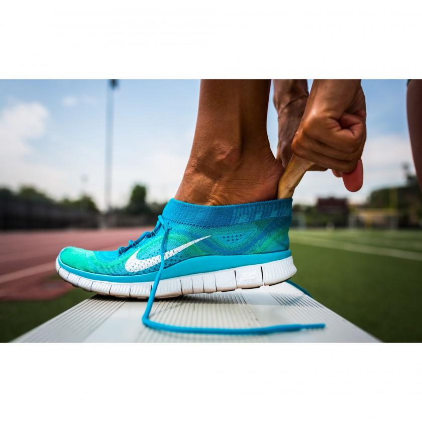 Nike Free Flyknit Laufschuh Women am Fuss 2013
