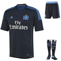 Hamburger SV - Auswrtstrikot, Hose und Socken fr die Fussball-Bundesliga-Saison 2013/14 von adidas