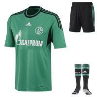 FC Schalke 04 - Ausweich-Trikot, Socken, Hose fr die Fussball-Bundesliga-Saison 2013/14 von adidas