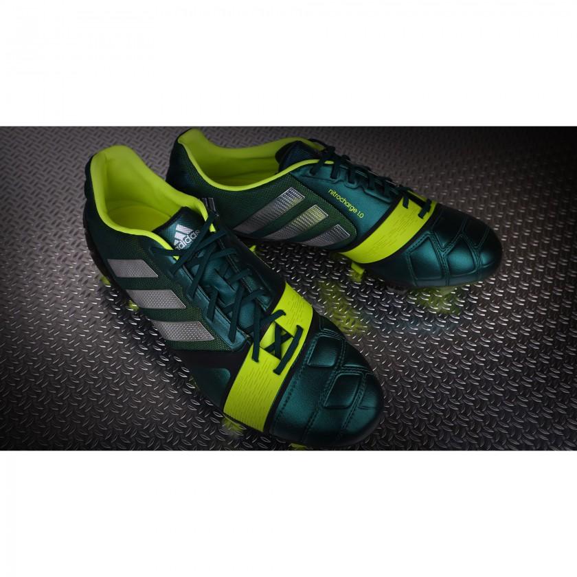 nitrocharge 1.0 Fußballschuh forest green/metallic/silver/electricity 2013 von adidas