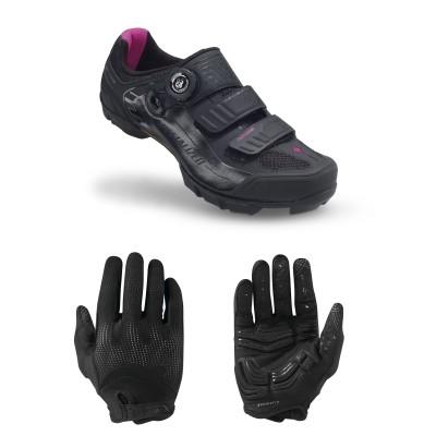 Body Geometry Gel-Handschuhe u. Motodiva-MTB-Fahrradschuh Women 2014 von SPECIALIZED