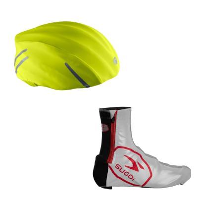 Zap Fahrradhelmberzug u. Zap Shoe Cover 2013/14 von SUGOI