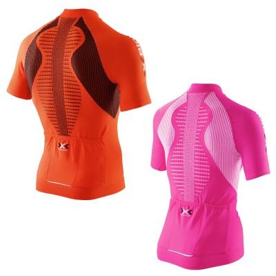 THE TRICK Bike Shirt short Full Zip Men/Women back mit THE TRICK Technologie 2014 von X-BIONIC
