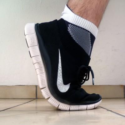 Nike Free Flyknit Laufschuh: Die sehr flexible FREE 5.0 Laufsohle 2013