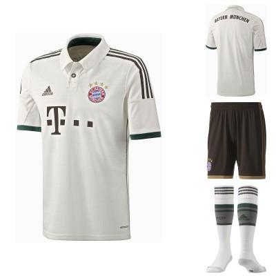 FC Bayern Mnchen: Auswrts-Trikot, Shorts, Socken 2013/14 von adidas