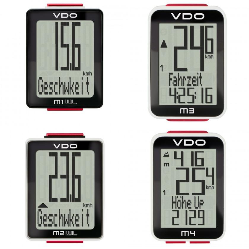 M1 WL, M2 WL, M3 und M4 Fahrradcomputer 2013 von VDO