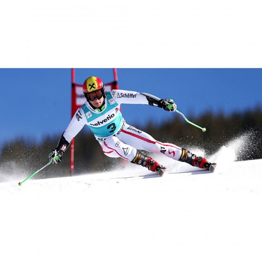 Marcel Hirscher im Redster Pro 130 Skischuh 2013/14 von ATOMIC