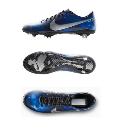 Mercurial Vapor IX: Cristiano Ronaldos CR7 Fussballschuh im Supernova Design side/sole/top 2013 von Nike