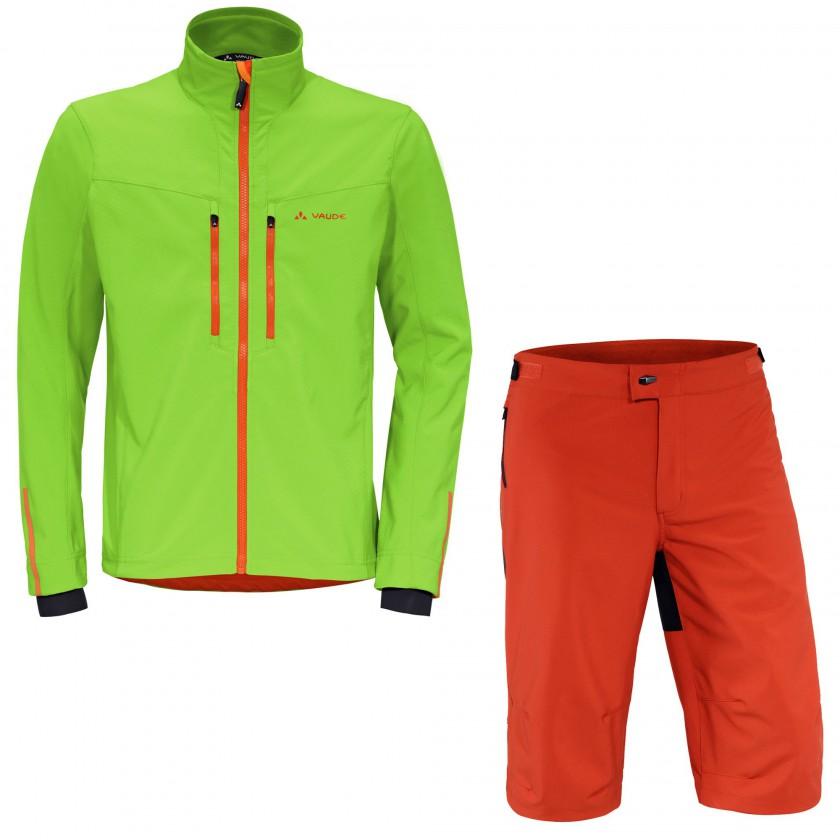 Qimsa Bike Jacket und Shorts Men 2013/14 von VAUDE