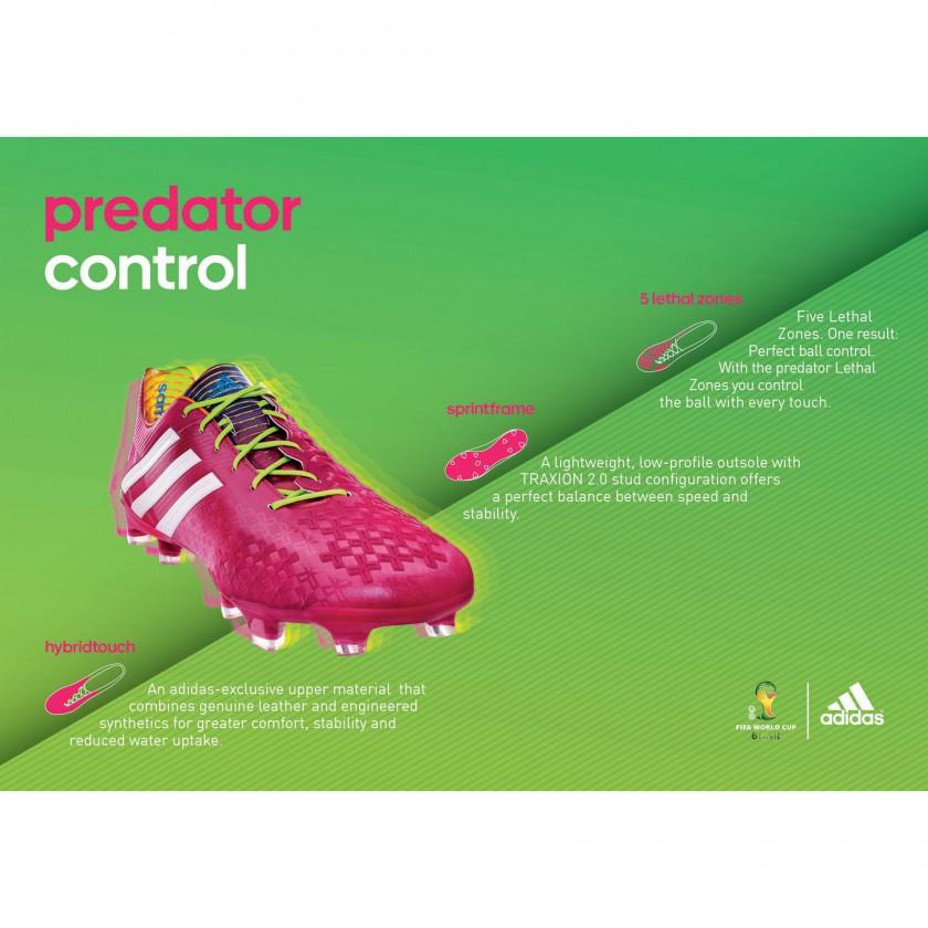 Predator LZ Fussballschuh - Samba Edition pink Tech Sheet 2013 von adidas