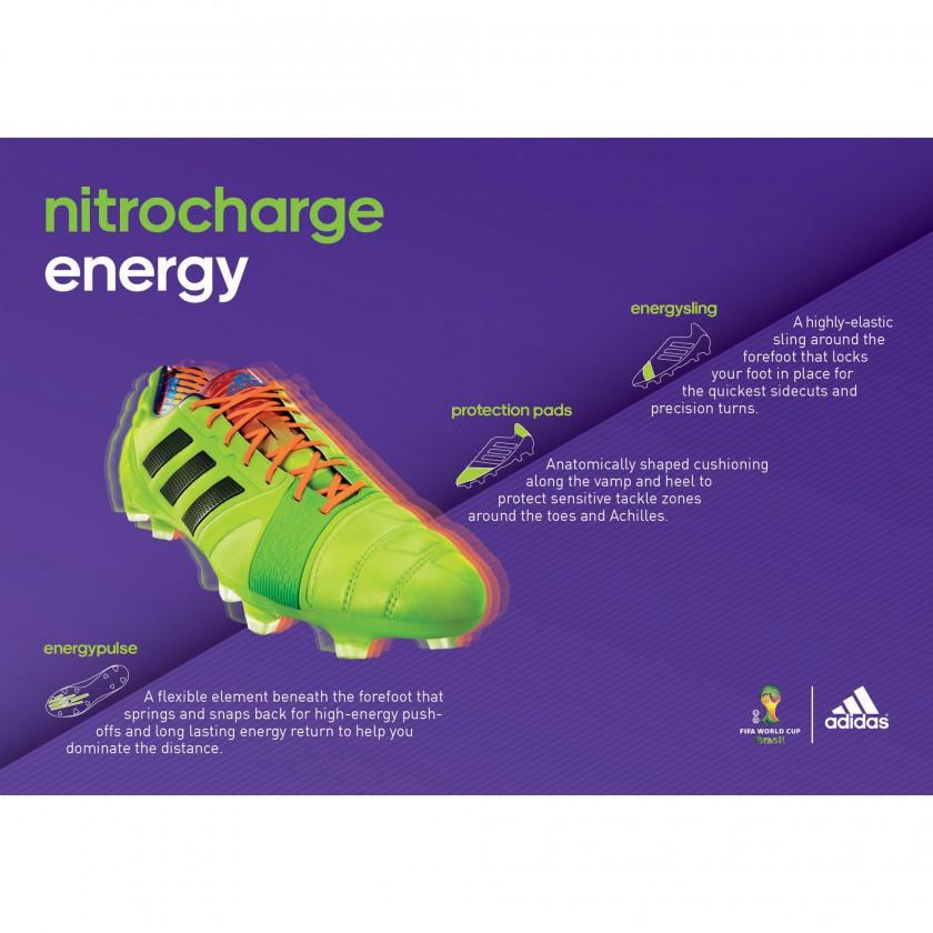 nitrocharge 1.0 Fussballschuh - Samba Edition hellgrün Tech Sheet 2013 von adidas