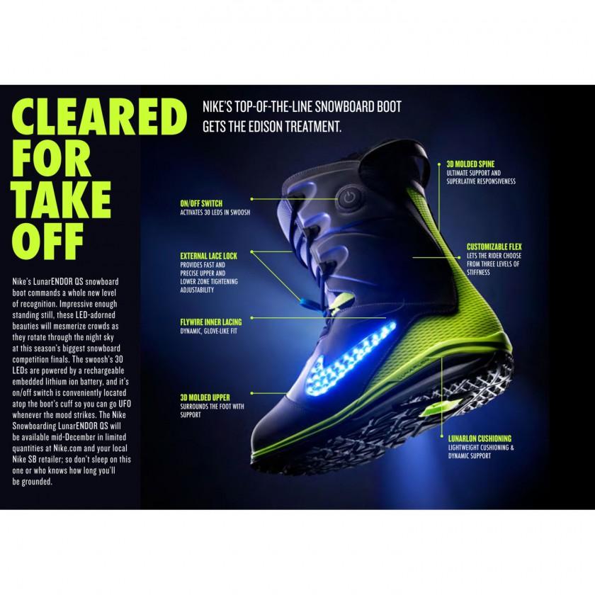 LunarENDOR Snowboard-Schuh Tech-Sheet 2013/14 von Nike