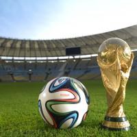 BRAZUCA: Spielball der FIFA Fuball-Weltmeisterschaft 2014 in Brasilien detail von adidas samt Pokal
