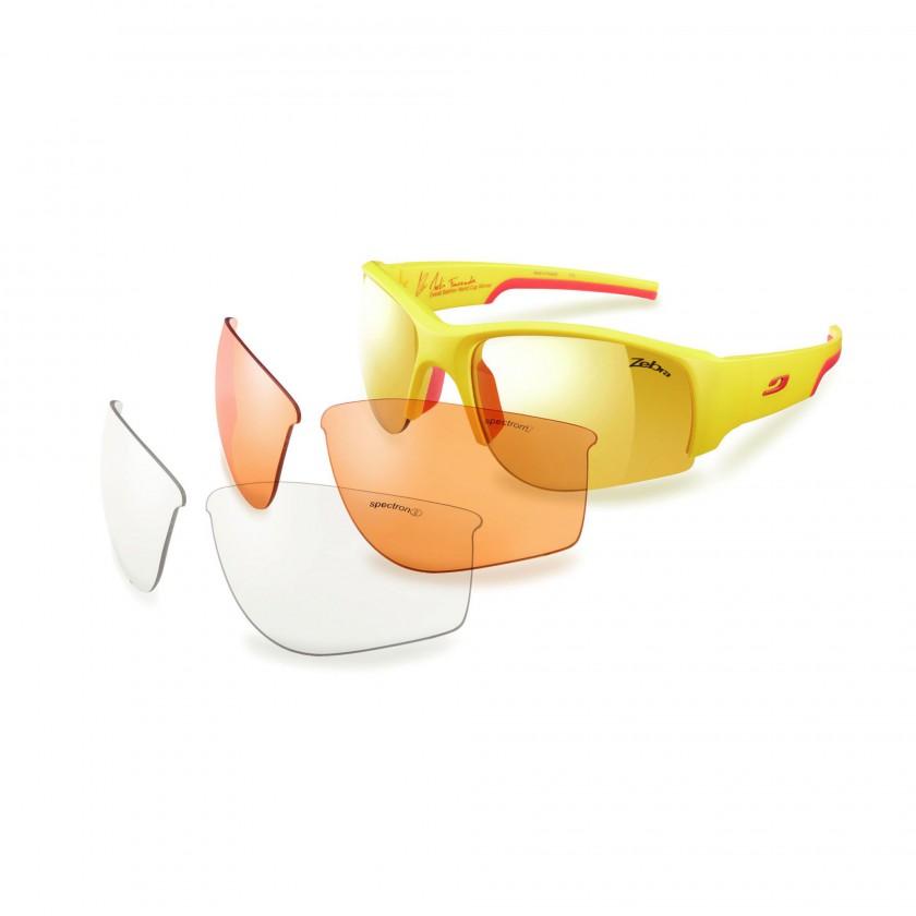 Dust Yellow Sportbrille Martin Fourcade Limited Edition mit Wechselglsern 2013 von JULBO