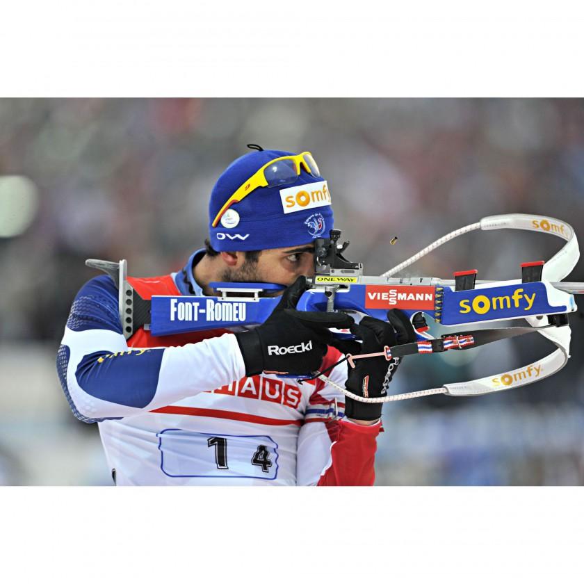 Martin Fourcade mit seiner Dust Sportbrille in der Saison 2013/14 von JULBO