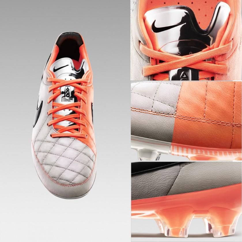 Tiempo Legend V Fußballschuh front u. Detailansichten 2013 von Nike