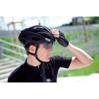 In-Vizz Fahrradhelm mit ausgefahrenem Visier black 2014 von ABUS