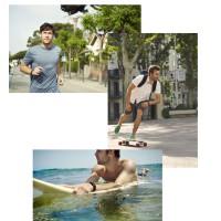 Polar Loop Activity Tracker in Aktion beim Joggen, Skateboarden und Surfen 2014
