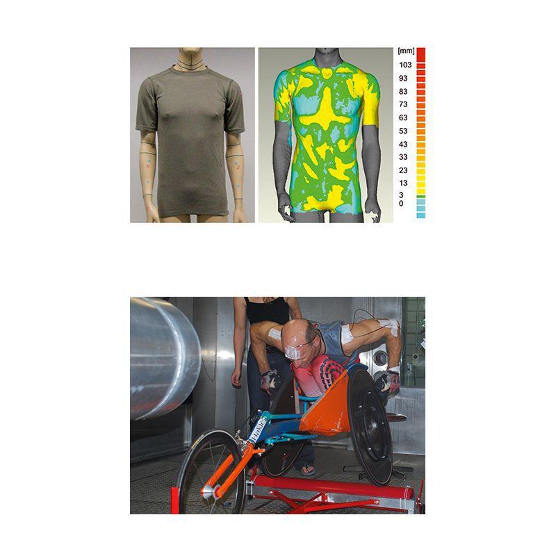 Innovative Materialien im Sport: Bodyscan und Rollstuhlsportler im Praxistest an der Empa 2013