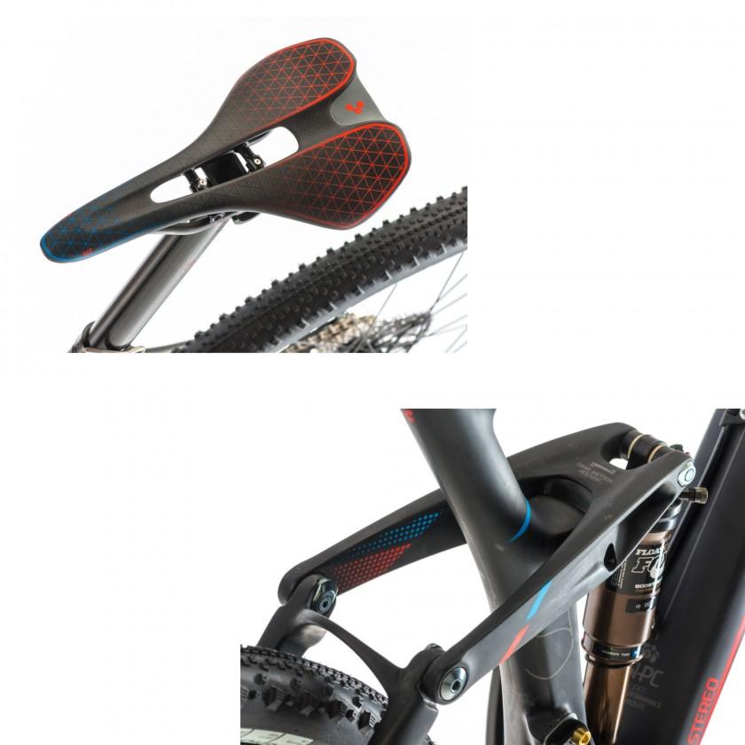 Stereo Super HPC SLT 29 Mountainbike: CUBE SLT-Zero Vollcarbonsattel und Fox Float CTD Adjust BoostValve Dämpfer 2014 von CUBE