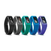 vivofit Fitness Armband in schwarz, grau, grn, blau u. lila 2014 von Garmin