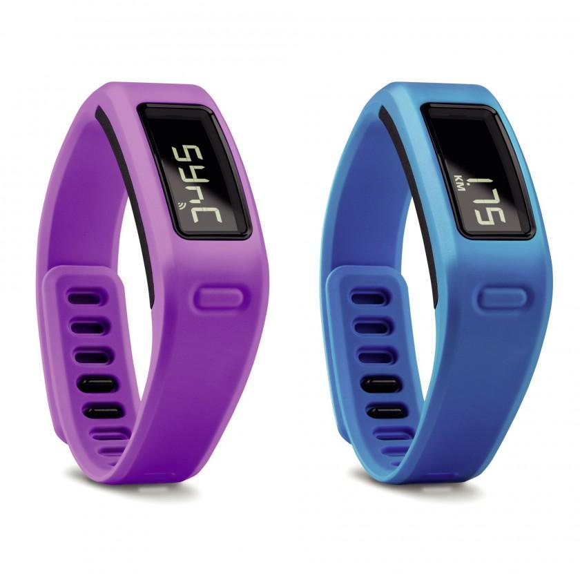vivofit Fitness Armband in lila WIFI Modus u. blau Distanz 2014 von Garmin