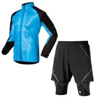 Logic Windproof Vis Laufjacke u. Integrated MF Vis Shorts Men 2014 von ODLO