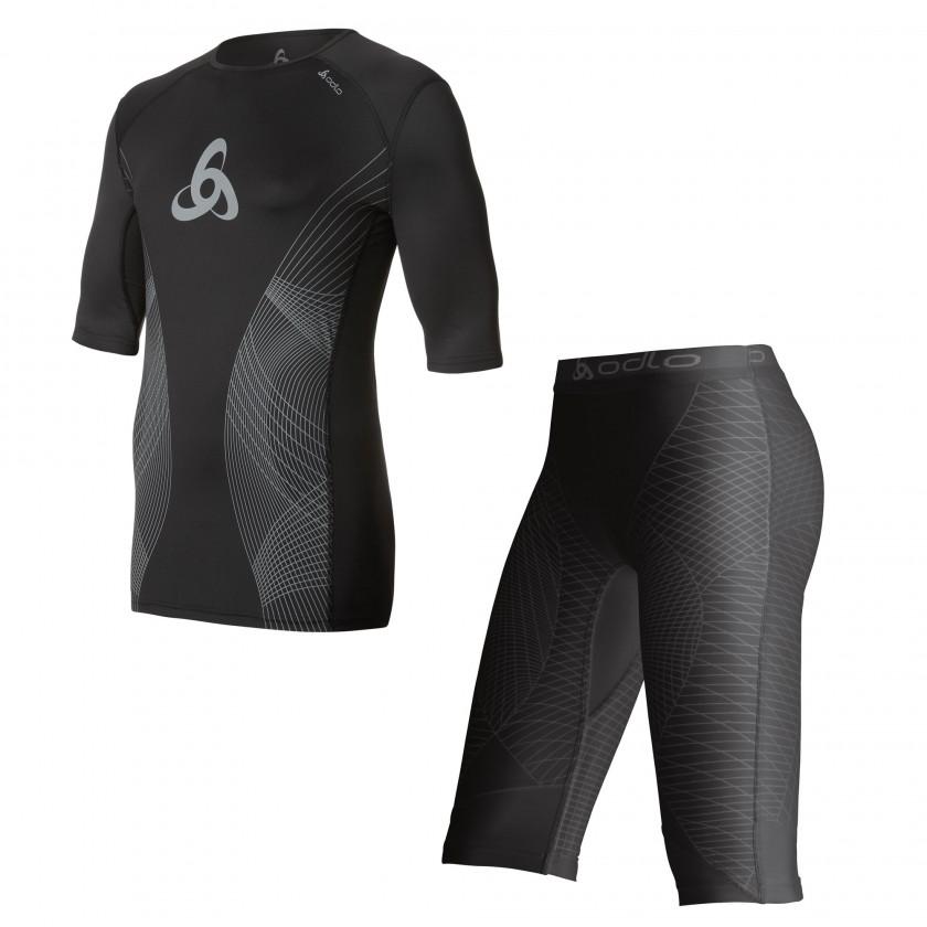 Muscle Force T-Shirt s/s crew neck u. Shorts Men 2014 von ODLO