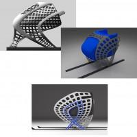 CAD-Design eines Skischlittens: Vorberlegung, erster und zweiter Prototyp 2014 von Fraunhofer IWM